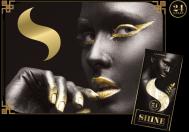 Shine 24K One Sheet King Size, 1 King size zlatý papírek+ 1ks filtr Rolls 69