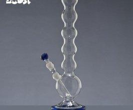 Skleněný bong Boost Bubble průhledný, 47cm
