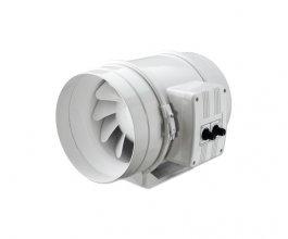 Ventilátor s termostatem TT/Dalap 125 U-T, 220/280m3/h