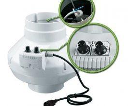 Ventilátor s termostatem VK 125 U, 355m3/h