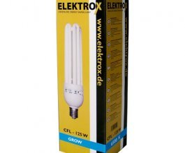 Úsporná CFL lampa ELEKTROX 125W, na růst