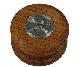 Drtička MOLINO dřevěná s lebkou