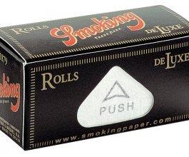 Rolovací papírky SMOKING DELUXE ROLLS, 4m v balení