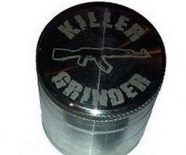 Drtička KILLER 40mm stříbrná, kovová, se sítkem, 4 dílná
